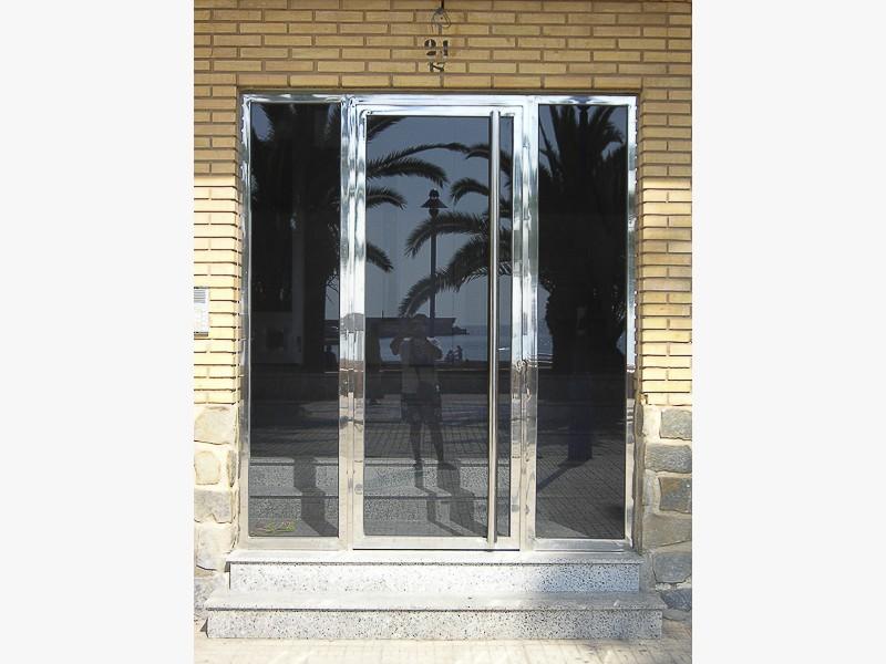 puertas portales en acero madrid