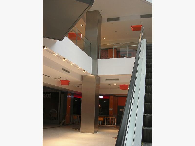 columnas acero centros comerciales