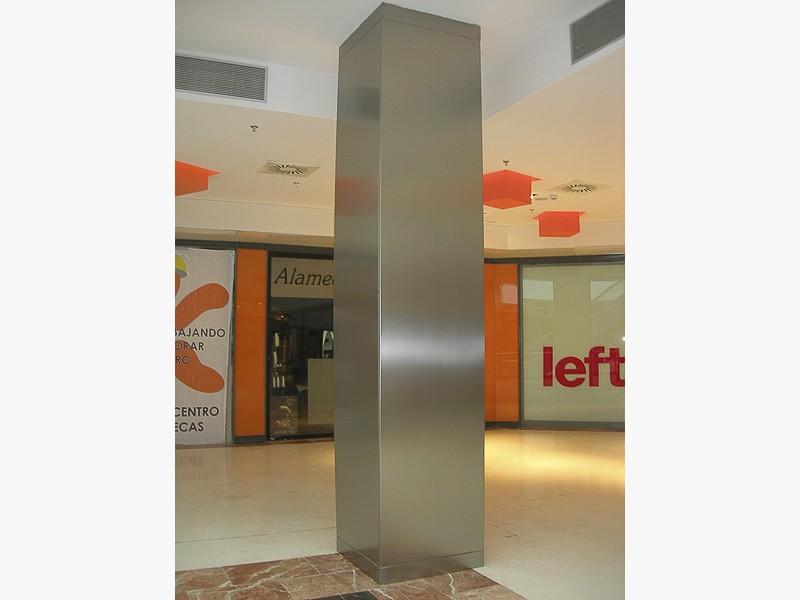 pilares acero centros comerciales madrid