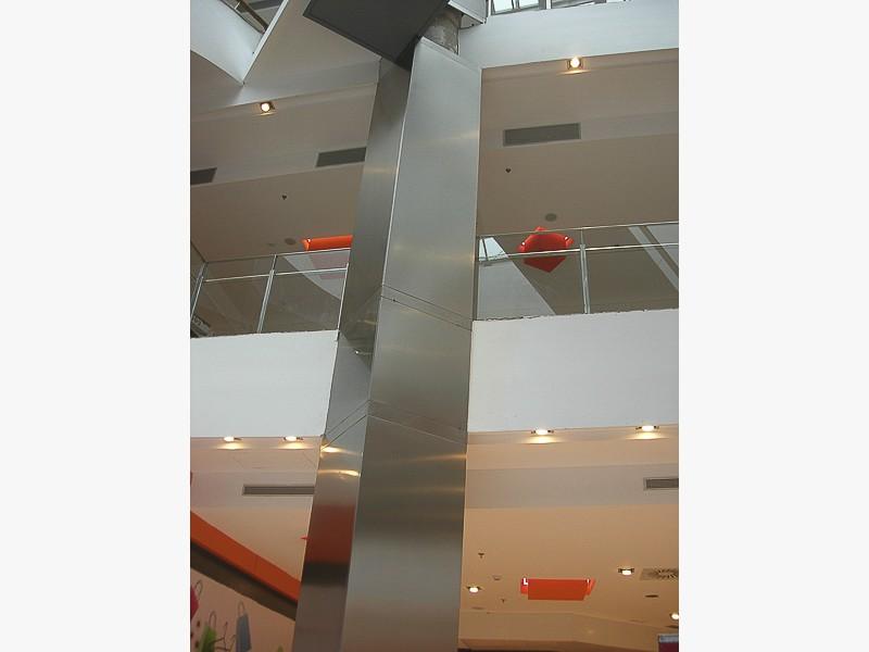 forrar pilares centros comerciales de acero madrid