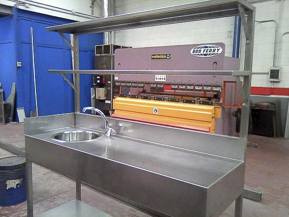 mobiliario industrial acero inox madrid