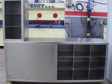 fabricación muebles acero madrid