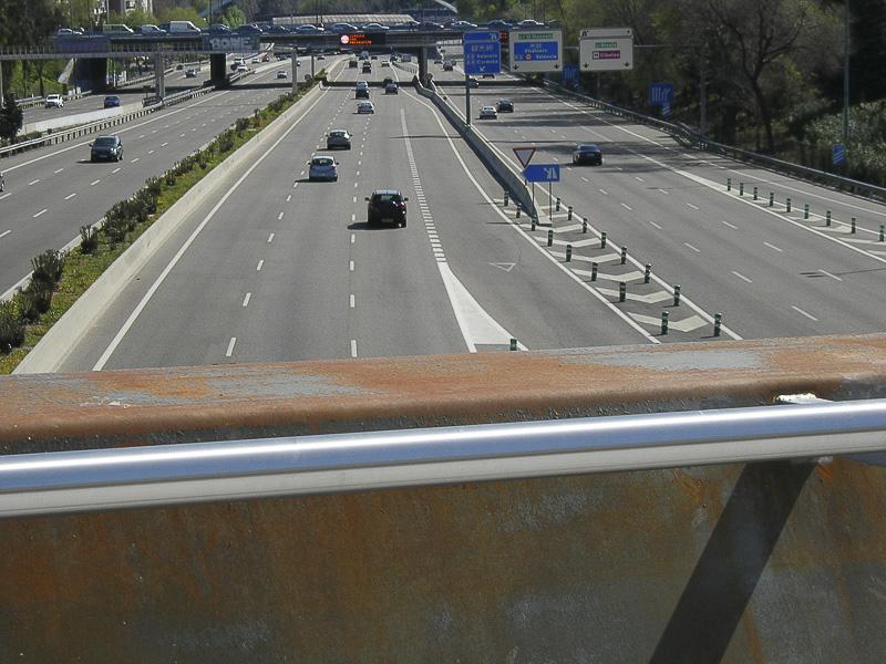 vallados seguridad puentes peatonales madrid